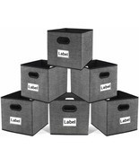 Cloth Storage Bins,Flodable Cubes Box Baskets Containers Organizer for D... - £22.69 GBP+