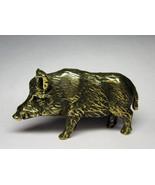 Boar #1 - a solid bronze statuette, desk/shelf decoration figurine, meta... - $34.00