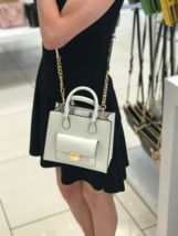 NEW Michael Kors Bridgette Optic White Saffiano Leather SMALL MESSENGE C... - $129.99