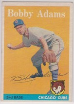 Bobby Adams (d. 1997) Signed Autographed 1958 Topps Baseball Card - Chic... - $29.99