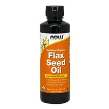 Organic Flax Seed Oil, 12 OZ by Now Foods - $7.60