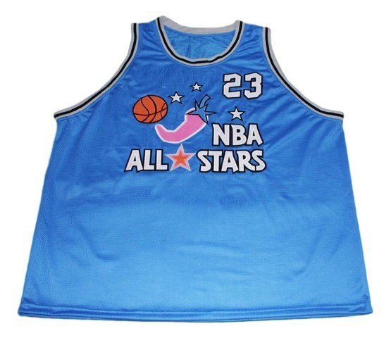 Michael jordan  23 all stars new men basketball jersey blue   1