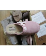 UGG Slippers Leslie Suede Scuff Pink Big Kid 4 fits Women 6.5 - $118.79