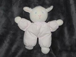 "8"" Eden LAMB RATTLE pink blue plush stuffed animal baby toy - $20.78"