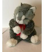 Telco Motion-ette Christmas Vintage Animated Kitten Cat Large Gray Movem... - $59.99