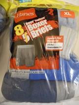Boy's Hanes Boxer Briefs X-Large 18/20 Comfort Flex Waistband  8 Pack NEW Blues - £13.67 GBP