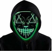 Máscara de Purga LED para Halloween, máscara de Miedo con luz para (Verde) - $23.69