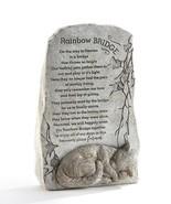 "11.6"" Memorial Up Right Cat Sentiment Rainbow Bridge Stone Statuary Poly... - $59.39"