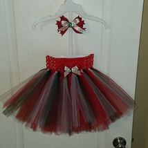 Holidays handmade tutu & hairbow set - $30.00