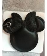NWT COACH X DISNEY Minnie Mouse Bow Hangtag glitter black BOW Bag Charm - $69.99