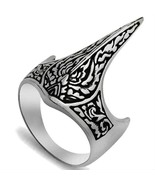925 Sterling Silver Handmade Crown Archer Zighir Turkish Jewelry Mens Ring - $41.95