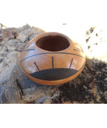 Mata Ortiz Pot Traditional Handmade 2 inch Clay Pottery Signed Lety E. - $35.00