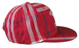 DGK Burgundy Red Plaid For Those Who Come From Nothing Snapback Baseball Hat Cap image 3
