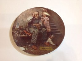 "Norman Rockwell Collectors Plate "" The Cobbler""  Knowles 1978 With Hanger - $17.75"