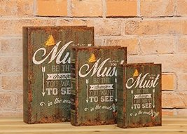 """""""You Must Be the Change You Want to See"""" Decorative Book Boxes Diversion Safe Se - $24.74"""