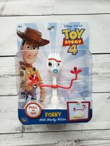 Disney Pixar Toy Story 4 Pull 'N Go Forky with Wacky Action Figure BRAND... - $24.99