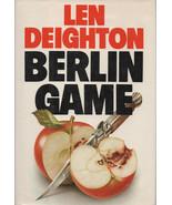ESPIONAGE: Berlin Game By Len Deighton ~ Hardcover DJ 1984 - $9.99