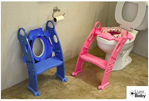 6 COLORS to CHOOSE. Mr Frog - Potty training seat with ladder, toilet HELPER for image 2