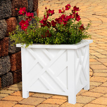 Pure Garden Plant Pot Holder Planter Container Box Lattice Pattern Decor... - $764,15 MXN