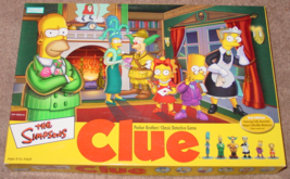 CLUE SIMPSONS CLUE CLASSIC DETECTIVE GAME 2002 PARKER BROTHERS COMPLETE ... - $20.00