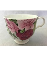 Crown Trent England Cabbage Rose White Fine Bone China Footed Tea Cup Co... - $13.32
