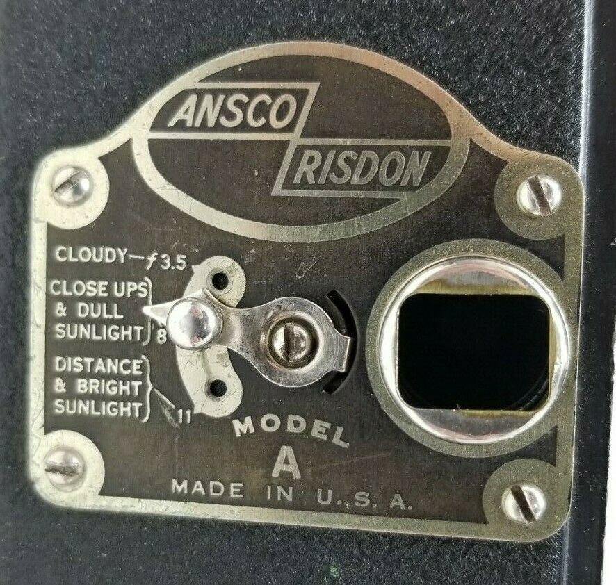 Ansco Risdon Model A 1930s 16mm Movie Camera