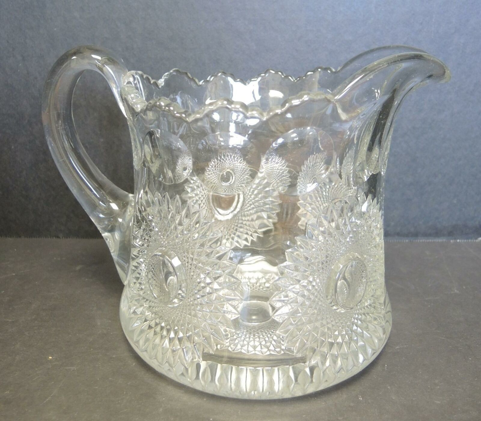 Primary image for 1910 Heisey 80 Oz Jug - Sunburst Pattern