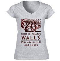 King Agesillaus Ii Sparta - New Cotton Grey Lady Tshirt - $25.23