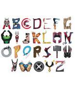 counted cross stitch pattern alphabet marvel ABC chart 386x297 stitches BN1677 - $3.99
