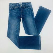 Aeropostale Womens Jeans 1 Blue Chelsea Boot Cut Stretch Medium Wash Whi... - $28.79
