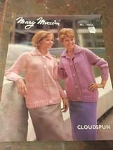 New Mary Maxim Cloudspun Knitting Pattern Womens 1007 1970S Sweater Vtg - $7.74