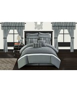 Chic Home Dinah 24 Piece Bed in a Bag Comforter Set, Queen, Grey - $241.98 - $285.76