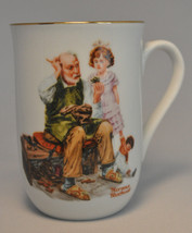"""1982 Norman Rockwell Museum Collectible Mug Cup - """" The Cobbler """" - Mint - $6.97"""