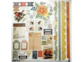 BasicGrey Serenade Sticker Sheet 12x12 inches #SER-3898