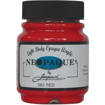 Jacquard Products 2-1/4-Ounce Neopaque Acrylic Paint, Red - $7.06
