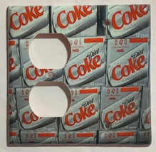 Diet Coke Coca cola Light Switch Outlet duplex Wall Cover Plate Home Decor image 6