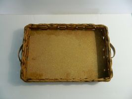 Vintage Pyrex Wicker Wood Long Casserole Dish Holder Cradle Fits 232 image 6