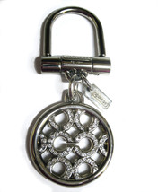 Coach Pave Circle Signature Cs Silver Crystals Key fob 92959 Purse Charm... - $50.00