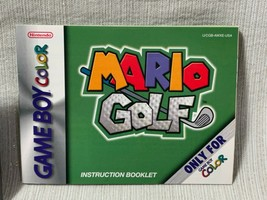 Mario Golf Nintendo Gameboy Color Game Cartridge Manual Authentic & Working - $34.64