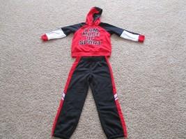 BNWT ASICS 2pc Fleece Hoodie/track pants set, Boys, size 5/6, Red/black,... - $29.69