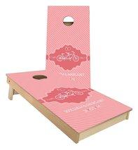 Pink Wedding Design Bike with Monogram cornhole boards - $179.00