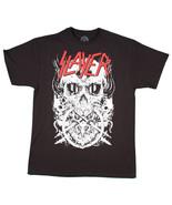 SLAYER Skulltagram Scheletro Death Punk Goth Heavy Metal Musica Fascia T Shirt - $21.26