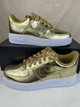 Nike Air Force 1 Low White Metallic Gold Women's Shoes Size 7.5 CQ6566-700 - $113.80