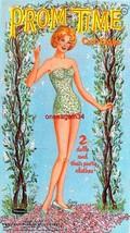 VINTAGE UNCUT 1962 PROM TIME PAPER DOLLS~#1 REPRO~FABULOUS/FANTASTIC CLO... - $18.99