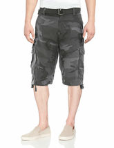 Men's Tactical Combat Military Army Cotton Twill Camo Cargo Shorts With Belt image 7