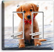 CUTE PUPPY DOG BEACH RED BANDANA DOUBLE GFCI LIGHT SWITCH WALL PLATE ROO... - $13.99