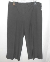 Ann Taylor Capri Pants Women Size 8 Black White Career Casual Cropped Checks - $12.85