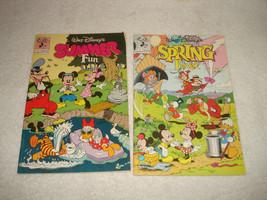 Walt Disney Comics Spring Fever Autumn Adventures Summer Fun 3 Lot - $19.79