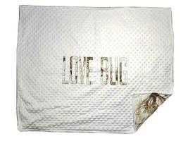 MC2 Snow True Timber LOVE BUG Baby Blanket Lovey White Raised Minky Dot Camo EUC - $33.96