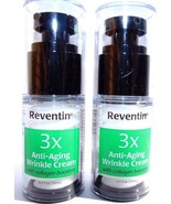 Reventin 3X Anti-Aging wrinkle Cream with collagen boost .5 oz 2 Pack NEW - $9.87